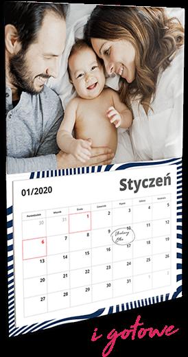 Gotowy kalendarz z Twoim zdjęciem