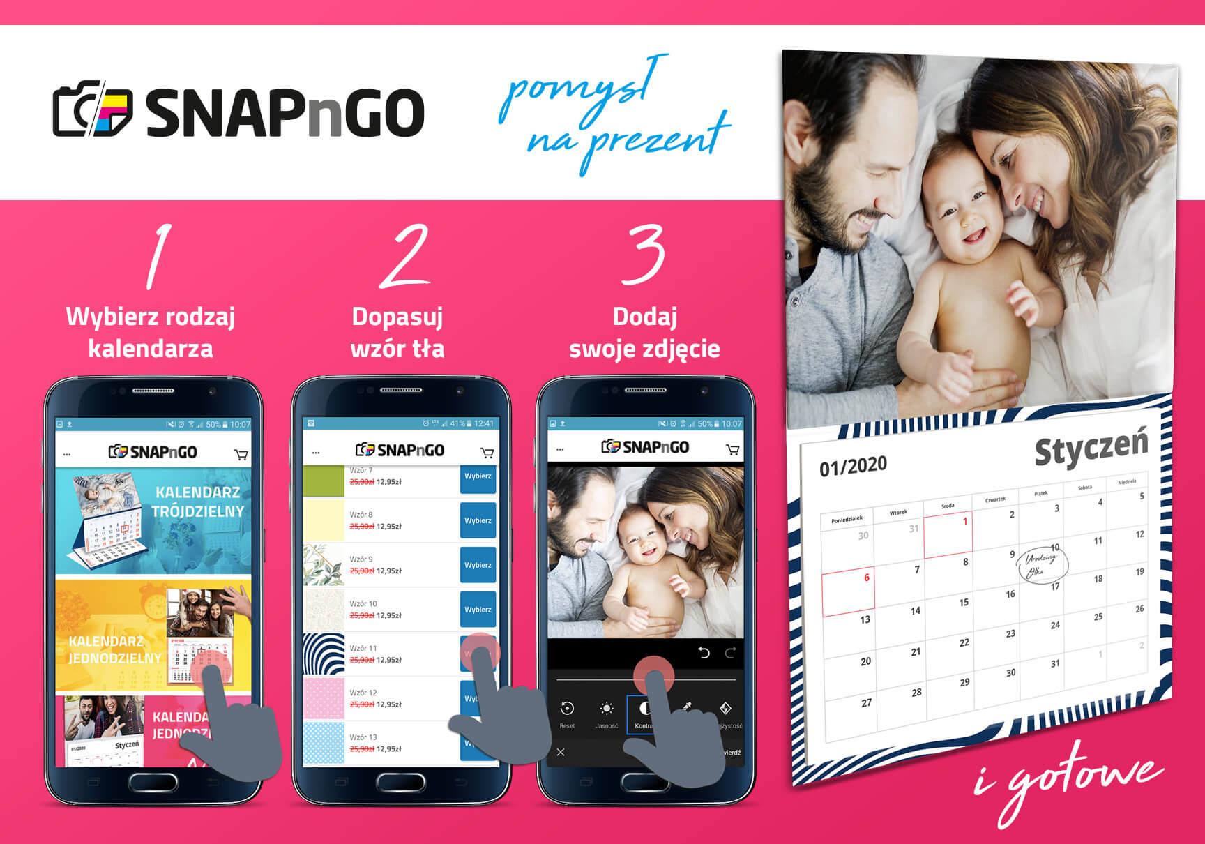 SNAPnGO Kalendarz z Twoim zdjęciem